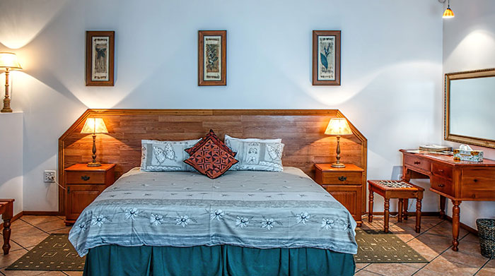 Wooden bed and furniture